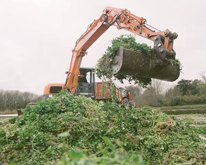 Hampshire Plant & Access machine on site preparation for Watercress Farm