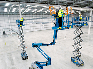 Hampshire Plant & Access Machines On Site  At New Distribution Centre