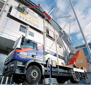 Wilson Access Truck Mount Puts Council  Branding On KCOM Stadium