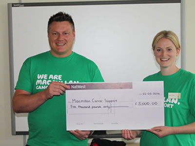 Charity Donation To Macmillan Cancer Support