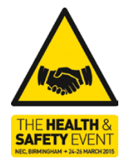 News Update - Visit our stand at The Health and Safety Event