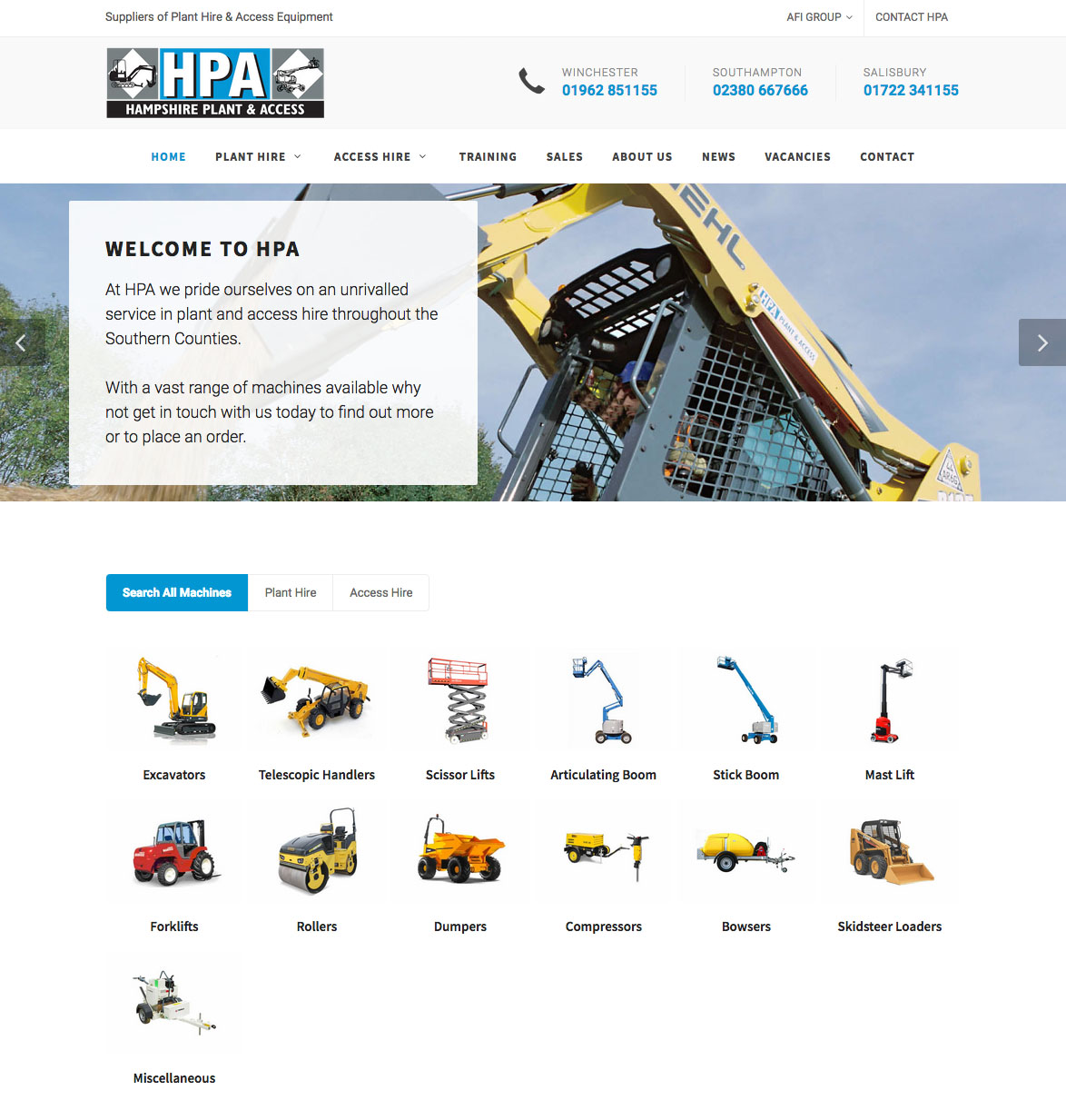 New Website For Hampshire Plant & Access