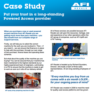 News update - Put your trust in a long-standing Powered Access provider