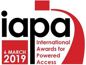AFI shortlisted for 4 awards at the International Awards for Powered Access (IAPAs) 2019