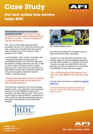 Case Study - Our new online hire service helps HDC